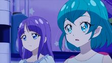 STPC26 Madoka and Lala listening to Hikaru's confession