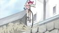 Nozomi on a special bike