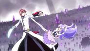 Phantom y Fortune luchando en el cementerio de pretty cure