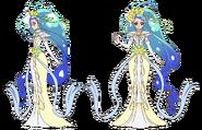 Cure Mermaid Modo Halloween