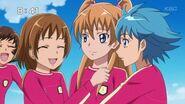 Hibiki y las demás celebrando la victoria