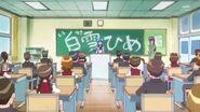 Presentacion de Hime ante la clase