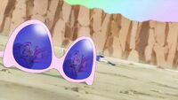 STPC20 Blue Cat's glasses reflecting the defeated Star