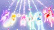 Kirakira precure lanzando ataque elisio