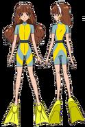 Kirara con traje de buseador