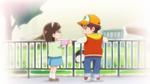 KKPCALM09 Flashback Midori offers Tatsumi a cookie