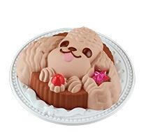 Pastel de chocolate Poodle