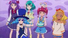 STPC17 Blue Cat and girls look up at Doramusu