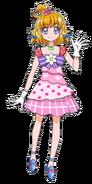 Perfil de Mirai con su vestimenta de galal en la pelicula