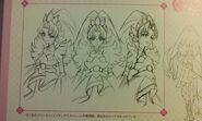 Bocetos de Cure Scarlet