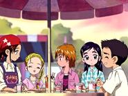 Daiki precure comiendo buñuelos