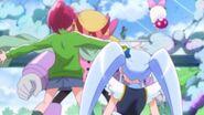 Megumi protegiendo a princess