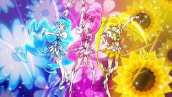 Trio Pose Cures Heartcatch