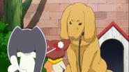 4.Miss Shamour y Kuroro preguntandole a un perro