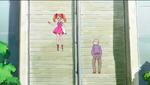 KKPCALM01 - Ichika hoping down the steps