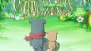 Kumata junto con los osos del bosque