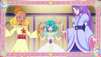 STPC15 Elena, Lala and Madoka wearin their dresses
