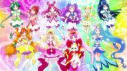 Las Pretty Cure 5 y Go!Princess les recuerdan a las Hugtto la importancia de los sueños