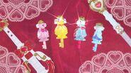 Llaves de Vestir de Flora, Mermaid, Twinkle y Scarlet al final del episodio 24