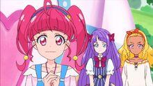 STPC22 Youichi looks at Hikaru, Madoka and Elena