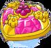 Pinker Kristall gezeichnet
