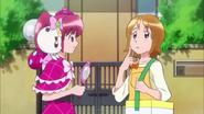 Megumi preguntando a Yuko i ha visto a Hime