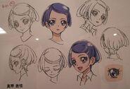 Makoto cabeza boceto