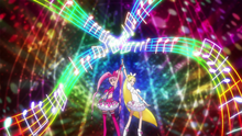 PH09 Rainbow colored music starts to coalesce