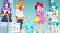 STPC47 Hikaru, Lala, Elena and Madoka look at Prunce