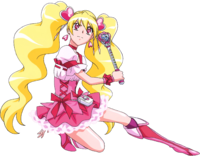 Fresh Pretty Cure Peach stick rod in action