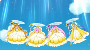 Grand Princesses doing their curtsy
