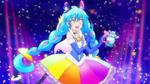Rainbow Splash Cosmo poses with the Rainbow Perfum