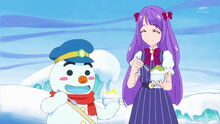 STPC24 Madoka eats the shaved ice with Yukio