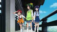 Akane, Nao y Reika buscando a las demas