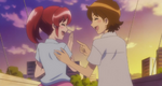 Seiji and Megumi laughing at eachother