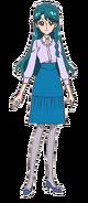 Minami con su vestimenta invernal