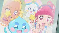 STPC29 Hikaru, Elena, Fuwa and Prunce look out the window