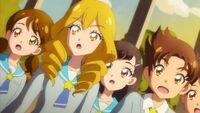 STPC40 Sakurako and Tatsunori are surprised to see the girls transform