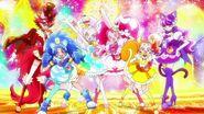 KiraKira☆Pretty Cure A la mode pose grupal