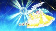 Las Pretty Cure apuntan al enemigo