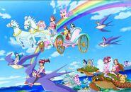 Pelicula en Dokidoki,HappinessCharge y PrincessPrecure
