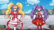 Cure Magical y Miracle observando a Sparda
