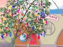 FwPCMH21-Tanabata tree at the Tako Cafe