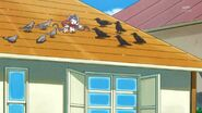 19. Kuroro junto a Miss Shamour en un tejado
