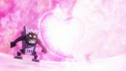 HuPC01.80-Oshimaida recibiendo el ataque de Cure Yell