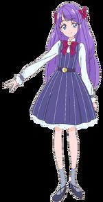 Perfil en Madoka Kaguya con su atuendo casual