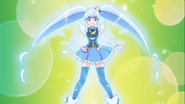 Cure Princess aura azul