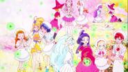 Las Pretty Cure se disponen a preparar el primer hanami de Hugtan