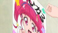 STPC35 Sakurako takes a hold of Hikaru's poster