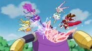 Etoile y las otras atacando la máquina de Traum